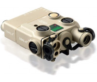 Steiner Optics - Civilian eOptics - DBAL-A3 Dual Beam Aiming Laser Advanced General-Purpose Multi-Function Laser Sight with Visible and IR Beams and Infrared LED Illuminator, Green Laser, Desert Sand