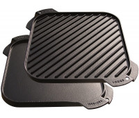 """Lodge 10.5"""" Cast Iron Reversible Grill/Griddle"""