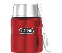 Thermos - Stainless King 16oz Food Jar with Folding Spoon, Cranberry